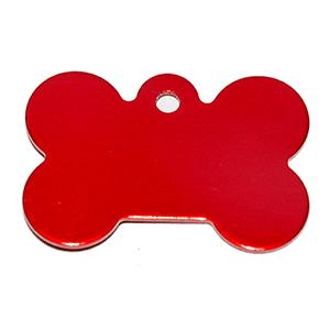 Id Para Mascota Forma De Piedra  Color Rojo 21*31*1 Mm (INCLUYE GRABADO DE UN LADO SIN COSTO)