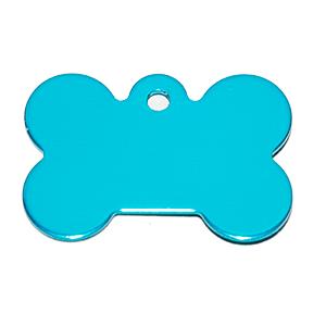 Id Para Mascota Forma De Piedra  Color Azul Claro 21*31*1 Mm (INCLUYE GRABADO DE UN LADO SIN COSTO)