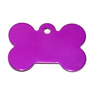 Id Para Mascota Forma De Piedra  Color Purpura 21*31*1 Mm (INCLUYE GRABADO DE UN LADO SIN COSTO)