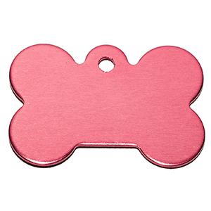 Id Para Mascota Forma De Piedra  Color Rosado 21*31*1 Mm (INCLUYE GRABADO DE UN LADO SIN COSTO)